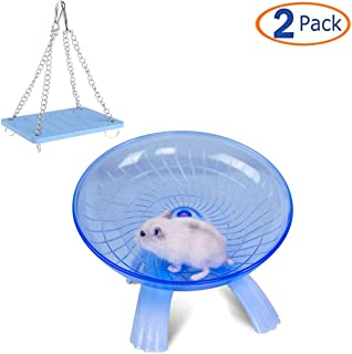 Tfwadmx Small Animal Swing Toys, Hamster Exercise Wheel for Syrian Hamster Rat Gerbil Guinea Pig Chipmunk Mouse Parakeet