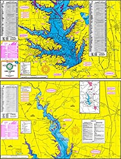Topographical Fishing Map of Lake Conroe - With GPS Hotspots