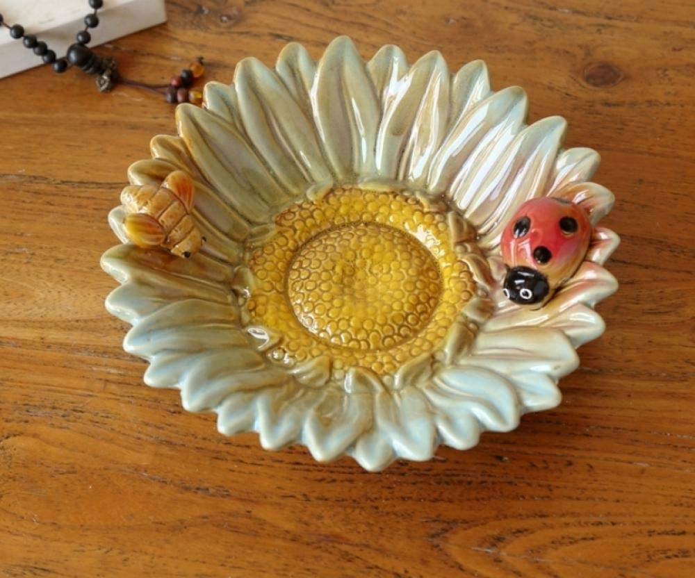 GUOCAO Ashtray Home Sunflower Beetle Limited In a popularity time trial price Ashtrays 1 Ceramic