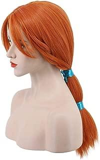 Karlery Women's Long Red Orange Ponytails Wig Halloween Costume Wig Anime Cosplay Wig