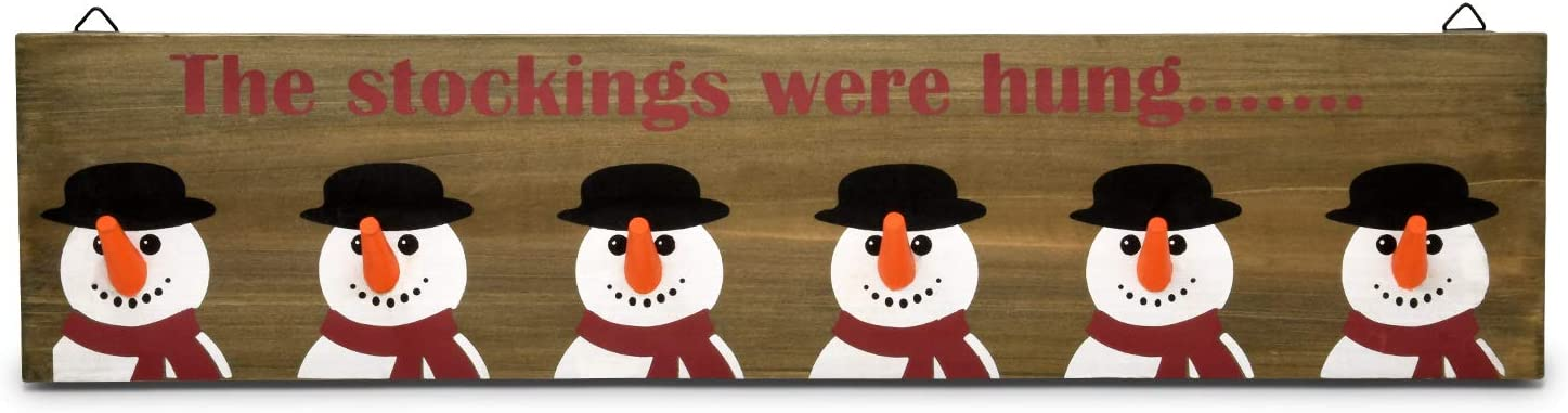 Gift Weekly update Boutique Christmas Stocking Holder Snow Wooden Rustic Sign Weekly update