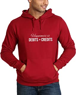 Campus Sutra Full Sleeve Front Printed Designed Hoodies for Men