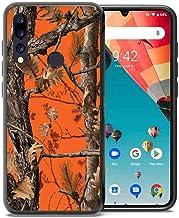 for Umidigi A5 Pro Case, ABLOOMBOX Shockproof Slim Thin Soft Flexible TPU Silicone Protective Cover for Umidigi A5 Pro Orange Camo Tree
