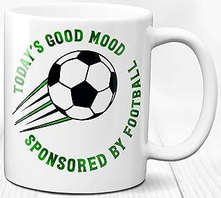 Taza de café para fanáticos del fútbol 330 ml Regalo para el jugador amante del fútbol Taza de cerámica