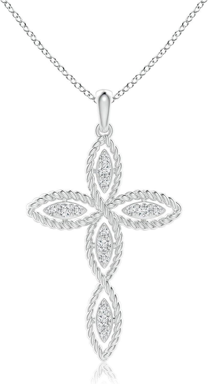 Gorgeous Diamond Infinity Twist Wire Ranking TOP9 Pendant 1.6mm Cross