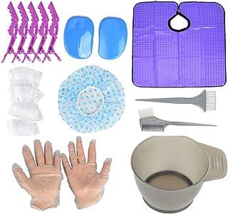 18 pcs Hair Dye Kit,Hair Dye Brush Bowl Set,Hair Color tool Kit Including Hair Tinting Bowls,Hair Dye Brush