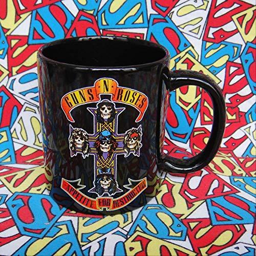 Rock GUNS N' ROSES Guns with Rose spalled ceramic mugs