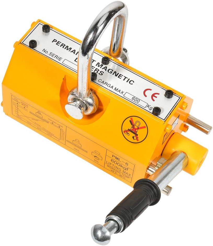 600KG Permanent Steel Magnetic Lifter Crane Hoist Lifting Tool 1