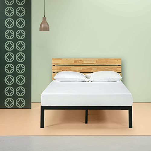 65d793b545 Zinus Sonoma Metal & Wood Platform Bed with Wood Slat Support, Queen
