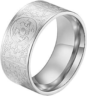PAMTIER للرجال خاتم قديم من الفولاذ المقاوم للصدأ 4 وحش الجارديان والتنين، النمر الأبيض، سوزاكو، البازلت منحوت