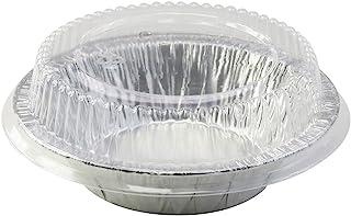 "Disposable Aluminum 5"" Tart Pan/individual Pot Pie Pan w/Clear Dome Lid #501P (100)"