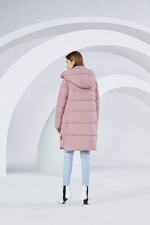 BOSIDENG - Lange Daunenjacke mit Kapuze für Damen Rosa