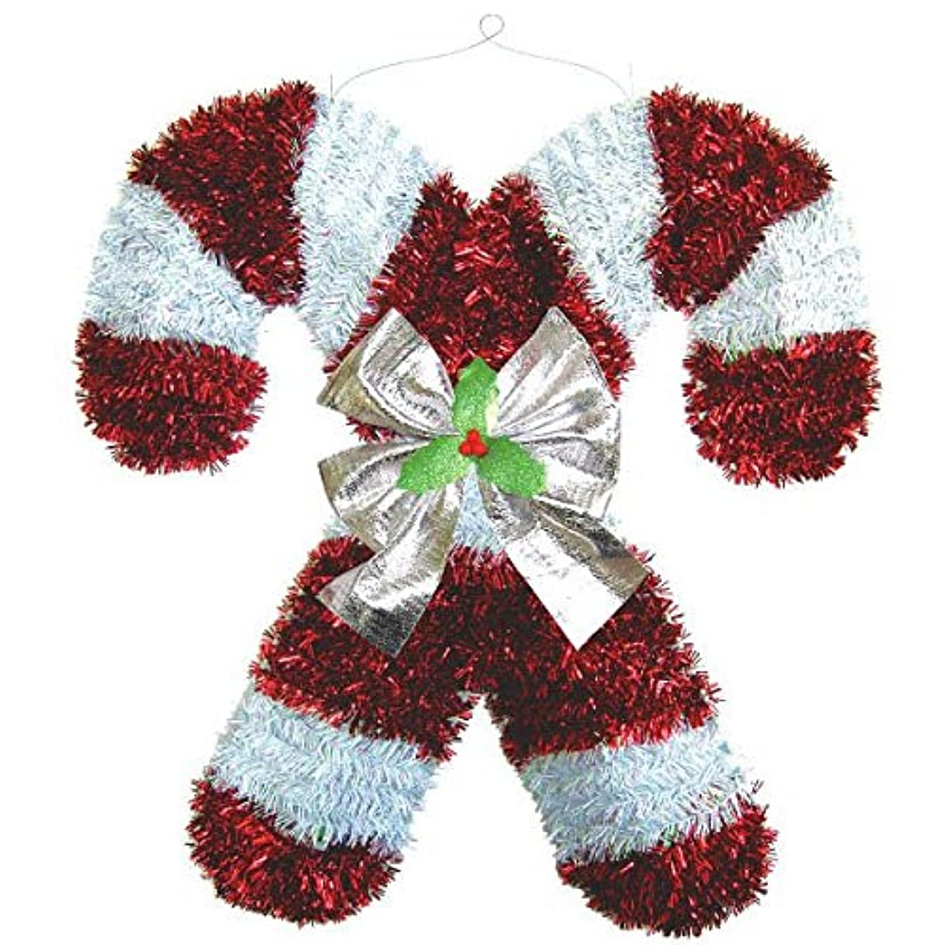 amscan Deluxe Christmas Hanging Tinsel Candy Cane | Party Decoration