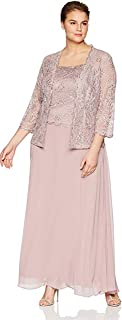 Emma Street Women's 2 Piece Beaded Jacket and Gown