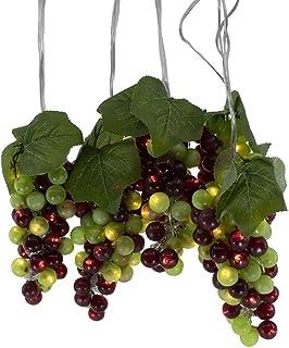 Kurt S. Adler Kurt Adler 100-Light Green and Burgundy LED 5 Grape Bunches Novelty Light Set, Multi