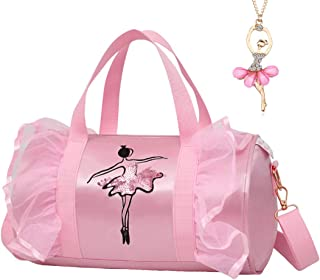 Debbieicy Cute Ballet Dance Backpack Tutu Dress Dance Bag with Necklace Girls