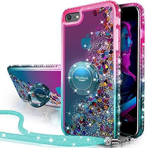 Miss Arts Cover iPhone 6S, Custodia iPhone 6,[Silverback] Custodia Glitter di in TPU con Supporto, Pendenza Colore Diamond Liquido Cover Case per Apple iPhone 6/6S -Verde
