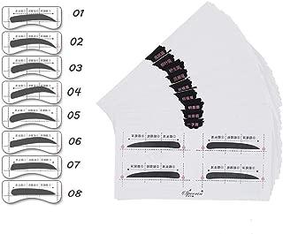 Oceaneshop 32Pairs DIY Makeup Tool Shaper 8 Types Brow Stencils Eye Grooming Eyebrow Template Stickers