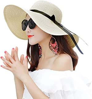 NW 1776 Summer Sun Hat, Women's Beach Solid Straw Hat