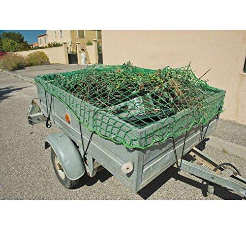 WerkaPro 10894 - Filet de protection et de transport - 120 x 160 cm - pour remorque - En polypropylène - Traitement anti UV - Inclus 10 crochets dattaches