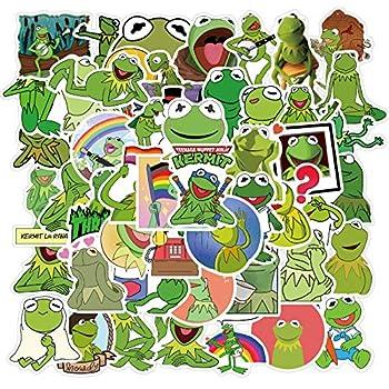 Kermit Frog Meme Funny Stickers for Water Bottles 50pcs Cute Laptop Cars Phone Scrapbook Bike Skateboard Travel Case Bumper