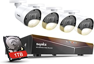 SANNCE Security Surveillance Camera System with Color Night Vision,8CH CCTV System and 4xTrue 1080P Outdoor Indoor Camera ...