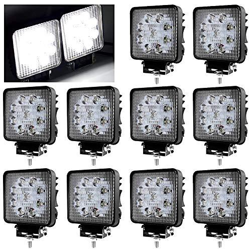 Energieklasse A++ VINGO 4X 18W LED Scheinwerfer Flutlicht R/ückfahrscheinwerfer IP67 Wasserdicht Arbeitsscheinwerfer 12V 24V