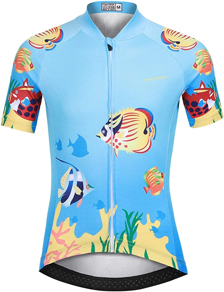 LPATTERN Kids Children Boys Girls Short Sleeve Cycling Jersey Cycling Clothes for Youth