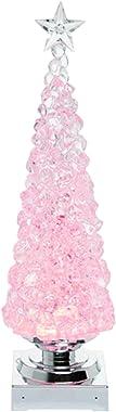 "Transpac 14"" Christmas Tree Ice Cube Light Up Globe - Snow Globe Christmas Decor"