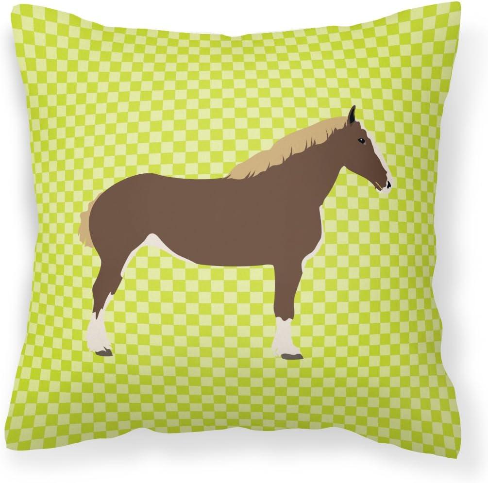 Caroline's Directly managed store cheap Treasures BB7732PW1818 Percheron Fabric Horse Green D