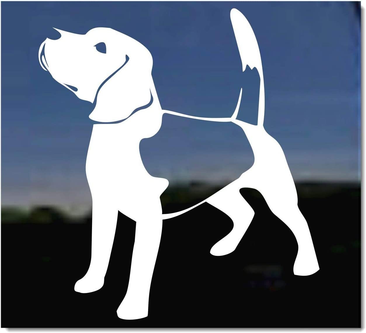 Bichon Frise Bone L099 8 inch Sticker dog Window Decal