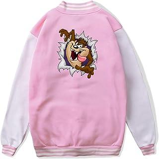 VJJ AIDEAR Looney Tunes Tasmanian Devil Taz Baseball Uniform Jacket Sport Coat Boys' Long Sleeve Hoodie Sweatshirt Black