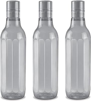 Milton Prism 1000 Pet Water Bottle, Set of 3, 1 Litre Each, Grey