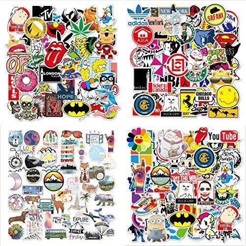 Aufkleber für Wasserflaschen,Dekorative Aufkleber, Wasserdicht Vinyl Stickers Decals,Laptop zufällige Aufkleber Pack,kofferAufkleber,Vinyl-Graffiti-Aufkleber (200 Stück)