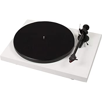 Pro-Ject Debut Carbon DC Turntable with Ortofon 2M Red Cartridge (Gloss White)