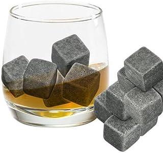 Fablcrew Whisky-Steine aus Granit, wiederverwendbar, Speckstein-Eiswürfel, Getränkekühler, mit Beutel