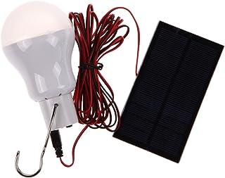 Bombillas LED portátil con panel solar de 0,8 W para acampada y senderismo