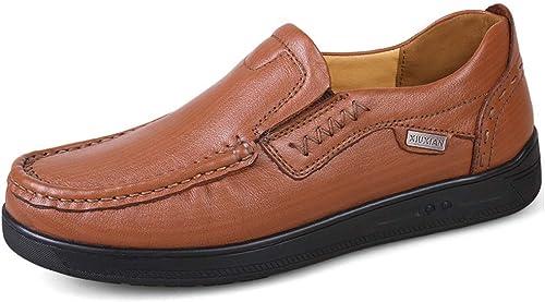 SCSY-zapatos Oxford zapatos Oxford para hombres zapatos Formales Slip On Style OX Leather Retro Rhythm Toe Peso Corto