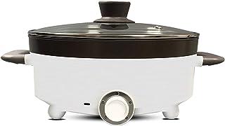 JTJxop Pot Chaud Électrique, Pot De Nouilles 5L, Poêle Électrique Antiadhésive avec Couvercle, avec Poignée Anti-Brûlure, ...