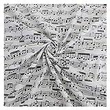 ZHANGAIGUO 100% Baumwolle Musik Note Gedruckt Stoff, Nähen