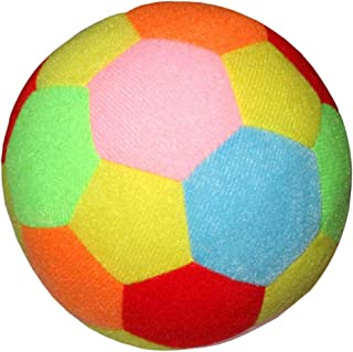 LuDa Soft Cotton Soccer Ball Baby Rattle Toy Kids Outdoor Toys Colorful for Baby
