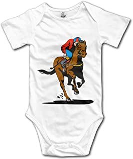 Racing Horse Newborn Girl Boy Romper Jumpsuit Bodysuit Baby Outfits Infant Clothes