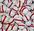 50 Premium Assorted Red Striped White Range Practice Golf Balls