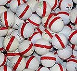 900 Premium Assorted Red Striped White Range Practice Golf Balls