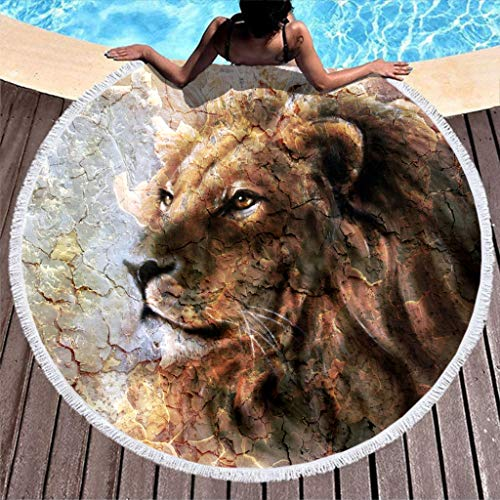 LAOAYI Toalla de playa, suave esterilla de yoga, picnic esterilla de 59 pulgadas, alta solidez de color, poliéster, White11, 150 cm
