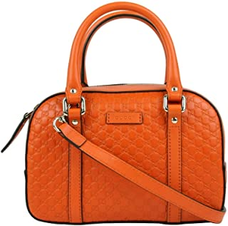 Gucci Women's Orange Guccissima Leather Small Crossbody Bag 510289 7527