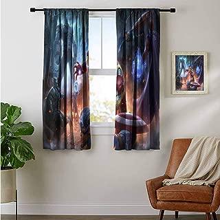 ZhiHdecor Printed Backout Curtains Vampirina Backout Draperies for Chidren Bedroom