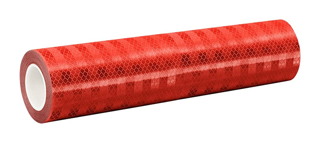 3M 3432 Red Micro Prismatic Sheeting Reflective Tape, 0.125