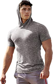Mens Workout Hoodie Pullover Gym Long Sleeve T Shirt Sports Sweatshirts