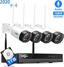 【8Channel,Audio】 Hiseeu Wireless Security Camera System,4Pcs 1080P Cameras 8Channel..